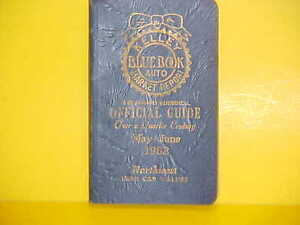 1954-1962 KELLEY BLUE BOOK NEWUSED CAR AUTO PRICES VALUE GUIDE BOOK 5-662