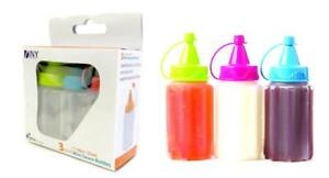 Mini Condiment Set of 6 Ketchup Mustard Mayo Squeeze Bottles Travel BBQ School