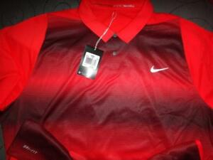 NIKE TIGER WOODS GOLF DRI-FIT POLO SHIRT 2XL MEN NWT $105.00