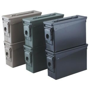 6 Pack Steel Ammo .30 Storage Boxes Cans Ammunition High Desert