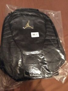 Nike Air Jordan Retro 12 XII Master GOLD Backpack Laptop Bag Black New With Tags
