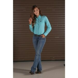 Wrangler Women's Turquoise Snap Up Western Shirt LW6591G