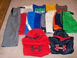 Under Armour Boys Lot Of 14 Shorts ShirtsHoodies & Pants Size Youth XL