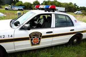 Pennsylvania State Trooper Police Car 1 64th HO Scale Slot Car Decals $5.50