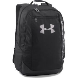 Under Armour Hustle Ldwr Mens Rucksack - Black Silver One Size