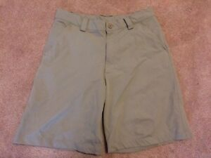 Mens 32R Under Armour Khaki Hiking Fishing Golf Shorts Size 34 205381 EUC