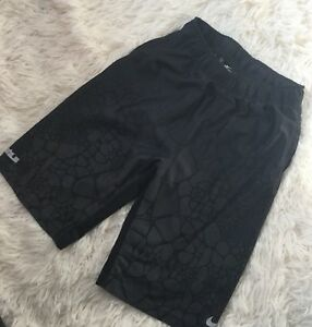 Nwot Boys Children Nike Black Dry Fit Drawstring Graphic Basketball Shorts-M