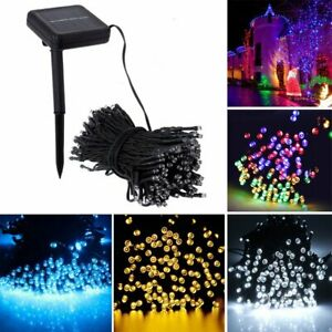 100200 LED Solar String Fairy Lights Waterproof Outdoor Party Decoration NEW