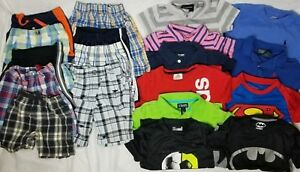 Lot 19 Pieces Boys 3T Shorts Shirts Ralph Lauren Under Armour Batman Superman