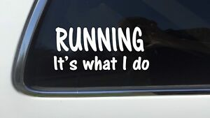 ThatLilCabin running it#x27;s what i do AS140 8quot; run athlete swim exercise decal