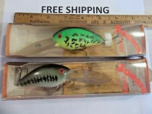 LOT OF 5 VINTAGE BOMBER 9A MAG A LURE STEELHEAD WALLEYE SALMON PIKE ZANDER