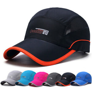 Men Women Outdoor Sport Baseball Caps Mesh Hat Visor Quick-drying Cap Snapback