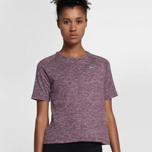 NIKE DRI-FIT ELEMENT Women's Short-Sleeve Running Top Size Small