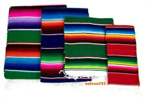 Mexican Sarape Zerape Saltillo Blanket sold in Assorted Vibrant Colors and Sizes