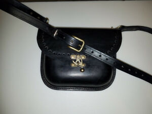 Handcrafted Leather Black Powder Possibles Bag w 60