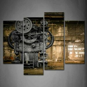 Framed Wall Art Metallurgical Firm Old Machine Pictures Mechanical Canvas Print $89.00