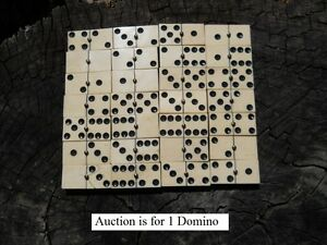 Old Rare Vintage Antique Civil War Relic Domino Game Piece Extremely Rare $15.00