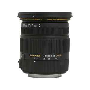 Sigma 17-50mm f2.8 EX DC OS HSM Zoom Lens for Canon & Nikon with APS-C Sensors