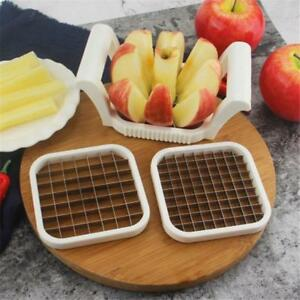 3 In 1 Stainless Steel Apple Potato Fry Cutter Slicer Corer for French Fries S