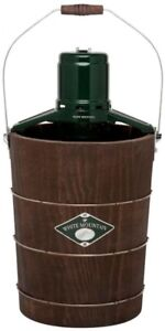 6 Qt Ice Cream Maker Homemade Sorbet Electric Old Fashion Wood Pine Bucket Lid
