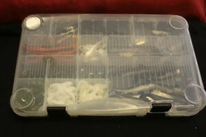 Silicone Soft Fishing Lures Lot with Clear Plastic TackleStorage Box