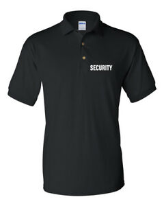Security Men's Gildan DryBlend Jersey Sport Polo T-Shirt Wholesale Lot - Black