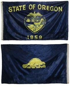 3x5 State Of Oregon Super-knit 2ply Double Sided Polyester Flag 3'x5'