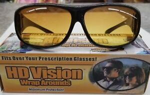 HD Night Vision Driving Wraparound Sunglasses Fits Over Glasses As Seen On TV US