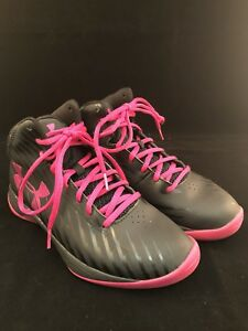 Under Armour Women's Basketball Shoes Black And Pink Size 7