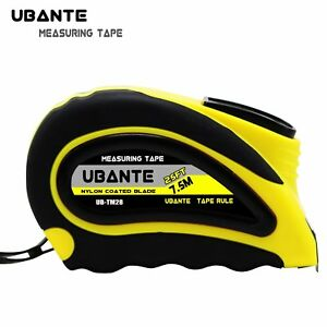 UBANTE Measuring Tape with Auto Locking 1 Inch x 25FT Retractable Heavy Duty