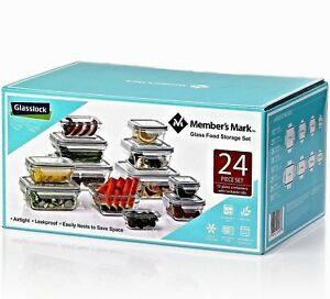 Member's Mark 24-Piece Glass Food Storage Set by Glasslock BPA Free Containers