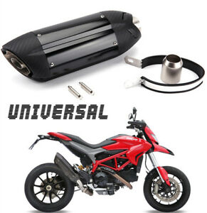Universal Motorcycle Aggressive Sound Carbon Fiber Exhaust Muffler Silencer Pipe