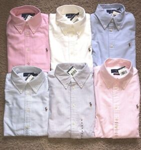 NEW Polo Ralph Lauren WOMENS CUSTOM FIT OXFORD Long Sleeve Button Down Shirt