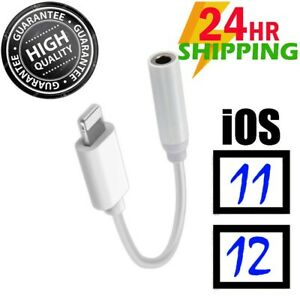 FOR iPhone 7 8 X Headphone Adapter Jack Lightning to 3.5mm Cord Dongle Adapter