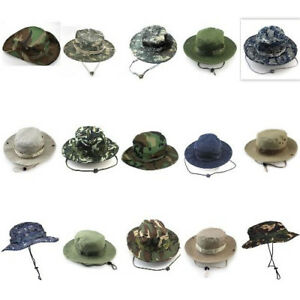 Sports Outdoor Summer Boonie Basic Hunting Fishing Bucket Cotton Cap For Unisex
