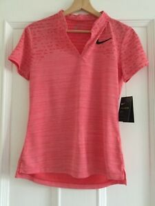 Women's Nike  Zonal Cooling Short Sleeve Golf Polo 2018  Dri Fit Size Small