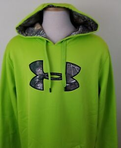 NWT Under Armour Storm Caliber Men's Lime Green Hoody size XLT 11718-3 B7
