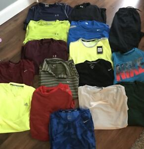 Men's Clothing Lot Size Extra Large 2XL XXL Nike Dri Fit Under Armour Shirt