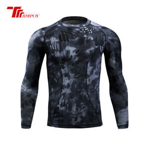 Men's Camouflage Tight-fit Quick-dry T-shirts Training Outdoor Sports T-shirts