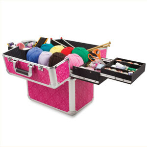 Knitting Case Sewing Accessories And Craft Needle Storage Mamba Case In Pink GBP 45.49