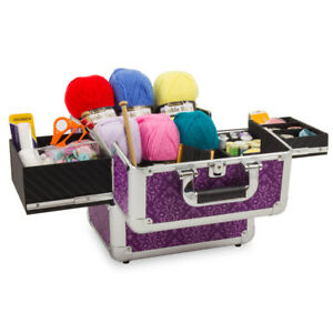 Knitting Case Sewing Accessories And Craft Needle Storage Mombasa Case Purple GBP 31.46