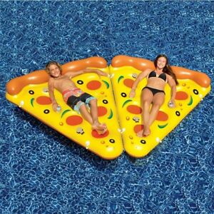 Inflatable Pizza Slice Swimming Pool Float Lounge Outdoor Summer Vinyl 8-Pack