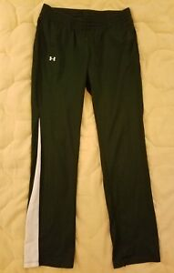 Womens UNDER ARMOUR ALLSEASON GEAR Forest Green Athletic Track Training Pants S