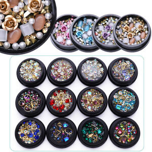 Nail Art 3D DIY Rose Rhinestones Jewelry Gems Mix Nail Art Decoration Glitter $1.29