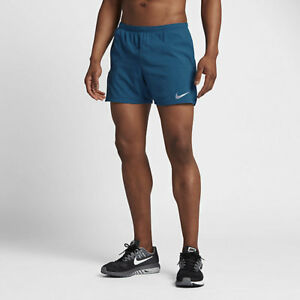 "Mens NIKE RUNNING FLEX 2 in 1 5"" Distance Shorts Size Small  904221-457"