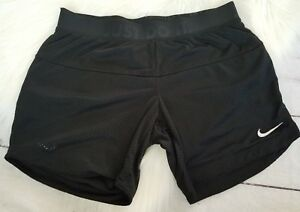 Womens Sz Small Solid Black Nike Shorts Wotkout Gym Casual Reversible Everyday