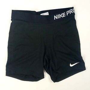 Nike Pro Combat Compression Shorts Solid Black Athletic Running Youth Girls XL