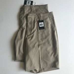 Mens NWT Nike flat front golf shorts standard dry fit size 40 (lot of 2)