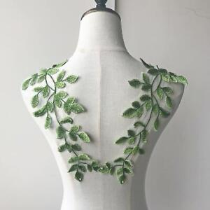 Vine Embroidery Lace Applique Motif Patches Sewing on Wedding Dress Gown 1 Pair $7.99