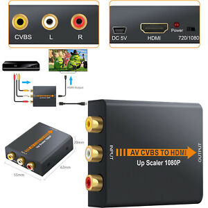 1080P Mini AV CVBS Composite to HDMI RCA Audio Video Converter Adapter UP Scaler